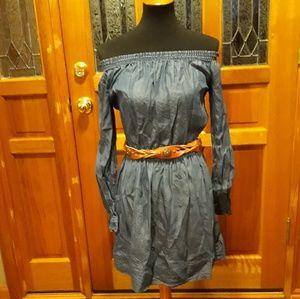 Halston chambray dress